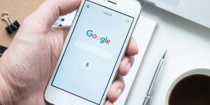 smart phone google page