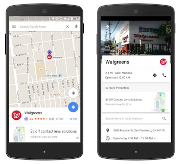 new ads in maps google
