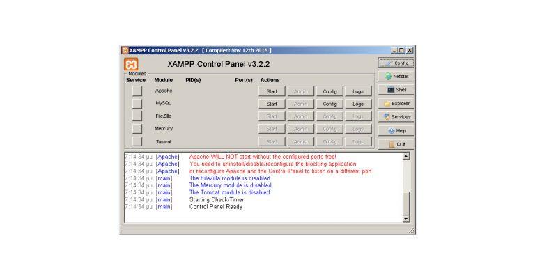 XAMPP Apache problem with Visual Studio