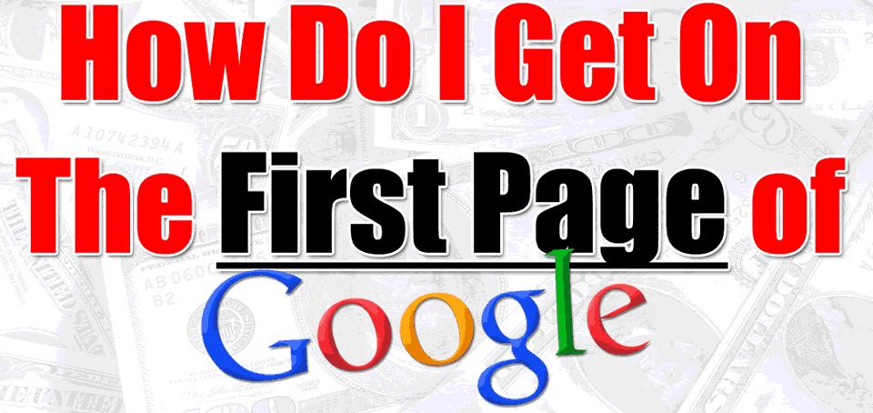 Πως να εμφανιστώ στην πρώτη σελίδα της Google
