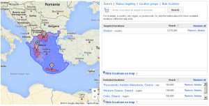 greece adwords locations targeting