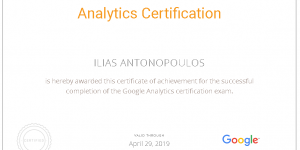 Google Analytics Certification Ilias Antonopoulos