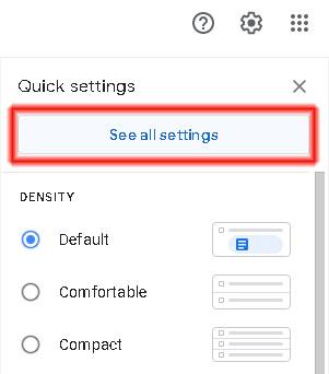 Από το Gmail επιλέξτε όλες οι ρυθμίσεις