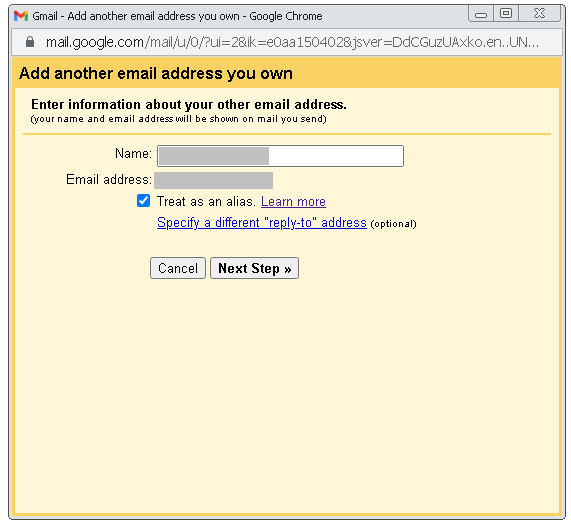 Gmail. Add another email address you own